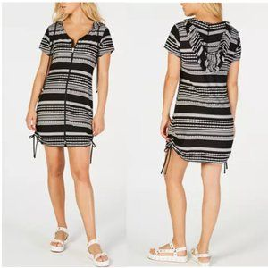 NWT!Dotti Ibiza Striped Hoodie Dress Cover-up M/XL